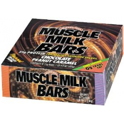 Muscle Milk Bar 8/73gr-Chocolate Peanut Caramel