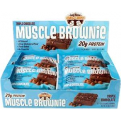 Muscle Brownie 12/80gr-Triple Chocolate