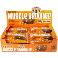 Muscle Brownie 12/80gr-Peanut Butter