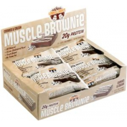 Muscle Brownie 12/80gr-Cookies and Cream