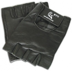Leather Gloves Black XS