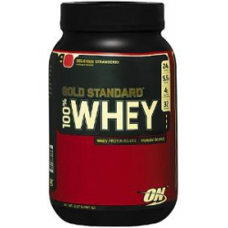 100% Gold Standard Whey 2lb-Delicious Strawberry